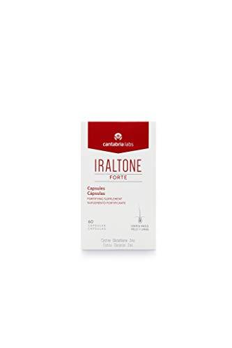 Iraltone Forte Capsulas - Complemento Alimenticio para el Manejo de la Caída Capilar Aguda o Estacional, Sin Color, Estándar, 690 G, 60 Unidades
