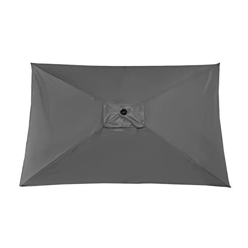 YEVYG Parasol al Aire Libre de jardín con Costillas robustas Playa Paraguas Tabla Parasol Umbrella Ropa for Patio Pool Outdoor No Base (Color : Grey 2x3M)