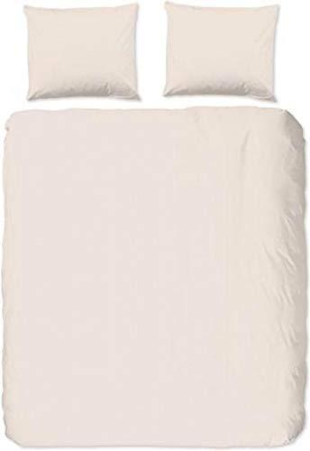 Good Morning! Ropa de cama Renforcé de 2 piezas, funda nórdica de 135 x 200 cm y funda de almohada de 80 x 80 cm, Uni 0270.02.08 Light Sand