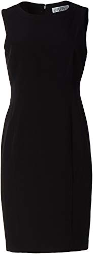 Kasper Women's Plus Size Sleeveless Sheath Dress, Black, 18W
