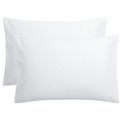 """FLXXIE 2 Pack Microfiber Pillowcases, Envelope Closure, Ultra Soft and Premium Quality, 20"""" x 30"""" (White, Queen)"""