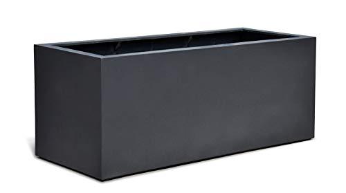 VAPLANTO® Pflanzkübel Box 80 Anthrazit Schwarz Rechteckig * 80 x 31 x 31 cm * Manufaktur Qualität * 10 Jahre Garantie