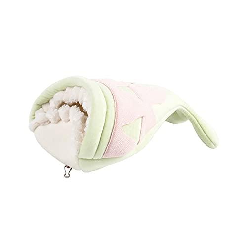 ESTone - Cama de algodón para mascotas con forma de pez (felpa, suave, con nido, ardilla, hámster)