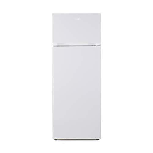 UNIVERSALBLUE | Frigorífico Doble Puerta 144 cm | Color Blanco | Capacidad Total 208L | Congelador | Vegan Box | Eficiencia energética A+