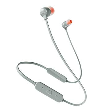 JBL Tune 115 In-Ear-Kopfhörer, kabellos, Bluetooth, Pure Bass Sound und Multipoint-Konnektivität, bis zu 8 Stunden Musikwiedergabe, Grau