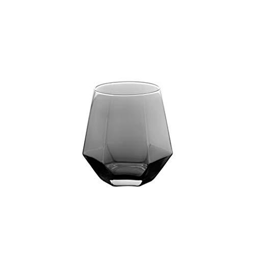 QAX Jarra de agua de vidrio con tapa de 1380 ml, jarra de vidrio de borosilicato más gruesa resistente al calor para té, zumo y leche, gris, taza