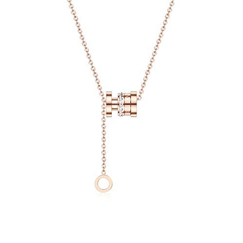 Xiaoman Cintura Borla Collar Colgante 18k Collar de Acero de Titanio Colgante de joyería para niñas