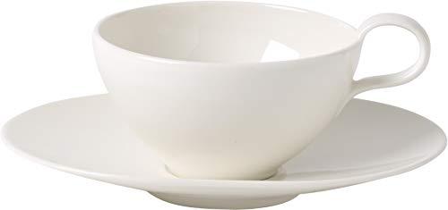 Villeroy & Boch 10-4214-8500 Tea Passion Teetasse mit Untertasse, Premium Porzellan, Weiß