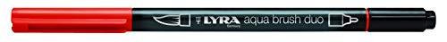 Lyra 6520021 - Rotulador acuarelable, doble punta, color rojo geranio