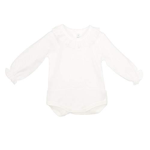 CALAMARO 998-19057-BLANCO-6M - Bodi Camisa BEBÉ bebé-niños Color: Blanco Talla: 6 Months