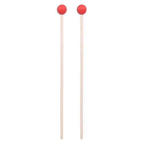 Palo de tambor cómodo y fácil de golpear para xilófono/timbales/tambores para timbales/tambor(red)