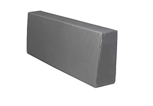 TexDeko Bezug (Ohne Füllung/Schaumstoff etc.) für Rückenkissen Grau 120x43x20/15cm