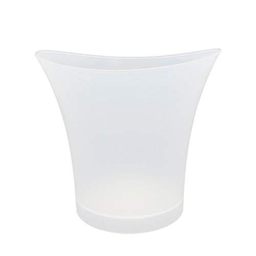 Secchio di ghiaccio, 5L grande LED colorato secchiello for il ghiaccio con colori che cambiano Capacità di Champagne del vino Benna della birra Wine Cooler impermeabile (Colore : White)