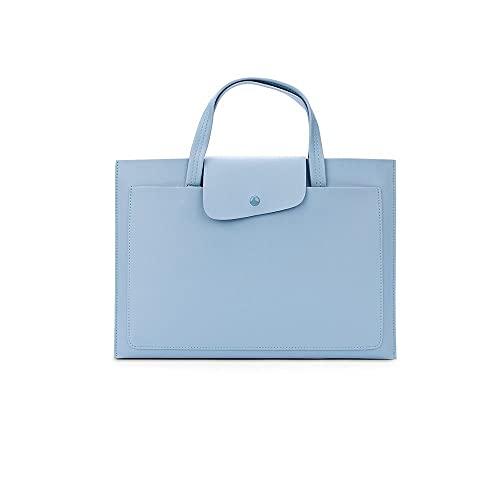 Wzdszuildnb Borsa Pc, Borse e custodie per Laptop, Sacchetto per Laptop per 13.3 14 14.6 Pollici Impermeabile taccuino Custodia da Donna con Spalla Borsetta (Color : Blue, Size : for 13-13.3 inch)