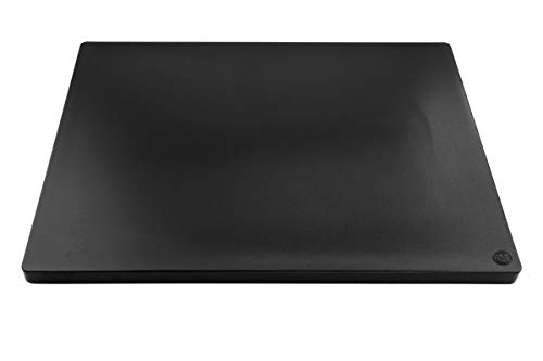Thick Black Plastic Cutting Board 24x18 Extra Large for Restaurants, NSF Certified