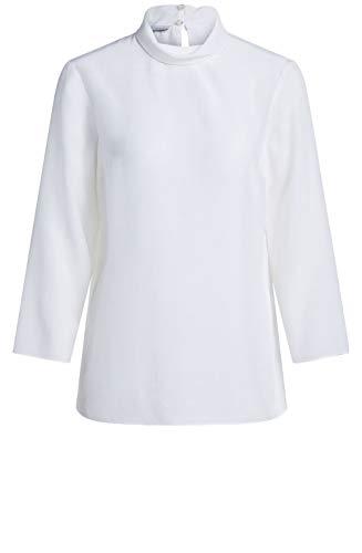 Oui Bluse mit hohem Hals, Weiß Gr. 40, Cloud Print