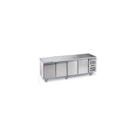 Mesa refrigerada de acero inoxidable positivo – 4 puertas GN 1/1 – L2G – 700