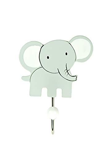 Mousehouse Gifts Porte Manteaux Mural en Bois éléphant Gris pour Une Chambre d'enfants ou de bébés