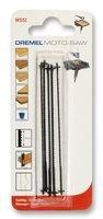 Dremel MS51 Mehrzweck Holzsägeblatt, Zubehörsatz für Multifunktionswerkzeug mit 5 Sägeblätter 18 mm Schnitttiefe zum Schneiden von Laminat, Weich- und Hartholz, PVC oder Weichblech