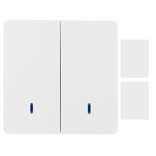 Panel de Interruptor de Control Doble de una vía Interruptor Remoto Dispositivo de Control Inteligente 220 V