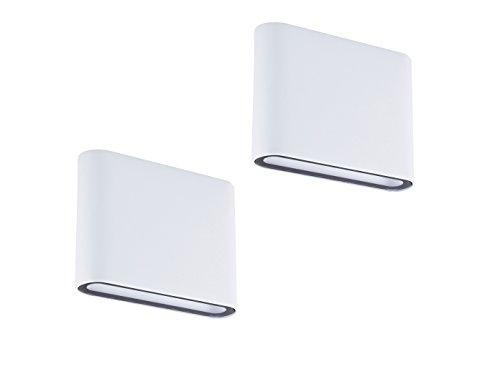 Set van 2 LED-wandlampen Up- & Downlight wit, 9 Watt, buitenverlichting/binnenverlichting, Smartwares