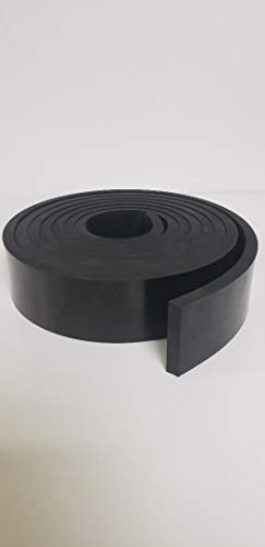 "Neoprene Rubber Strip.500"" (1/2"") Thick x 2"" Wide x 20' Long - Commercial Grade 65A, Smooth Finish, Solid Rubber, Perfect for Weather Stripping, Gasket, Costume & DIY Projects …"
