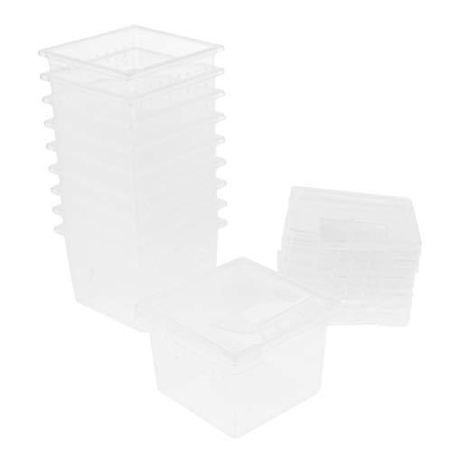 LOVIVER 10er Transparent Insekten-Box Reptilienbehälter Insektenhaus Fütterungsbox für Reptilien Spinnen