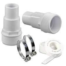 well2wellness® 2 x Schlauchtülle/Pumpenanschluss Abgestuft 32-38mm Plus 2 Schlauchschellen + Teflonband (022871)