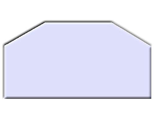 Glasbodenplatten farbig für Kaminöfen verschiedene Formen und Stärken Milchglas Sechseck 1000x500