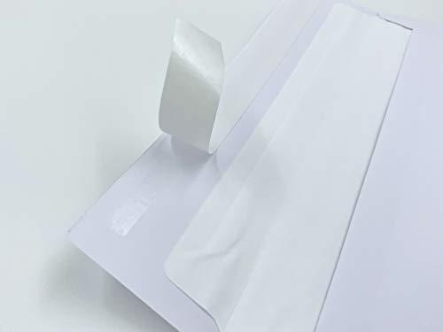 50 Kuverts mit hellem Seidenfutter in DIN lang = 220 x 110 mm, mit Abziehstreifen