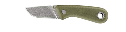 Gerber Outdoormesser mit Holster, Klingenlänge: 6 cm, Vertebrae Fixed Blade Outdoor Knife, Grün, 31-003689