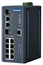 Advantech EKI-7710G-2CPI-AE B+B SmartWorx/Advantech 8GE PoE+2G Combo Managed Ethernet Switch, 8 x IEEE 802.3 af/at PoE GB Ports + 2 x GB Copper/SFP Combo Ports, -40~75℃