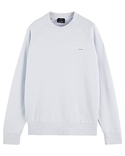Scotch & Soda Sweatshirt aus Bio-Baumwolle mit Grafik-Logo Sudadera, Blue 0765, XL para Hombre