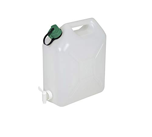 Floraworld Universal Unisex – Erwachsene Wasserkanister Classic 10 L, grün/weiß, 30,5 x 17 x 37 cm