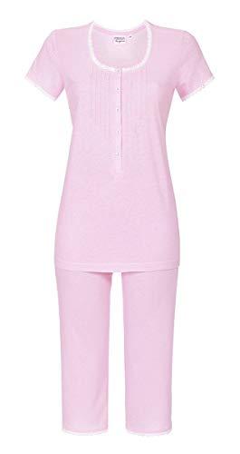Ringella Lingerie Damen Pyjama mit Caprihose nelke 38 0261218, nelke, 38