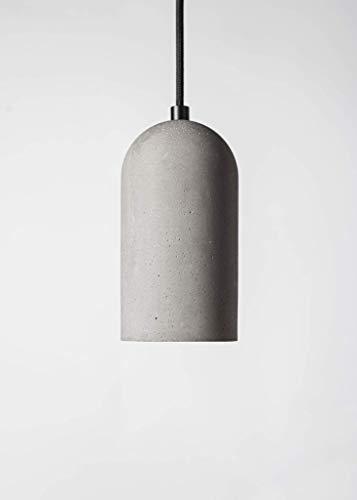 BENTU Designleuchte Glocke klassisch aus Beton 18x10cm mit E27 Fassung im Industriedesign mit 2m Kabel und Deckenhalterung