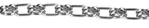 ASC MC12740404 Low Carbon Steel Lock Link Single Loop Chain, Galvanized, 4/0 Trade, 5/32