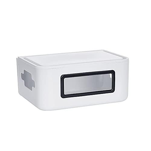 Caja de almacenamiento de enrutador de escritorio Duatproof Power Strips WiFi Router Cable de alimentación Cable de carga Caja Organizador para el hogar Oficina