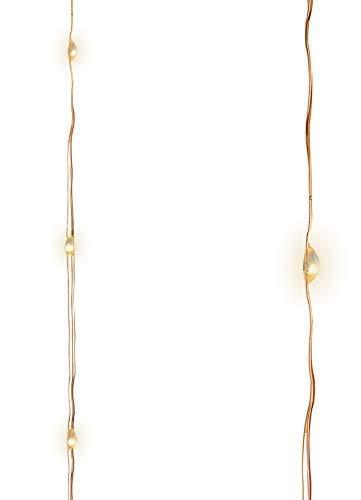 Chaîne Lumineuse LED Paillettes sur Fil de Fer Fil de Cuivre, 120 Blanc Chaud LED, DIY Noël Garten Party Terrasse Branches D'Arbres Stimmungs-Licht Extérieur/Intérieur