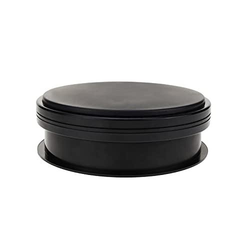 PrimeMatik - Base giratoria eléctrica de 15 cm. Plataforma rotatoria de color negro