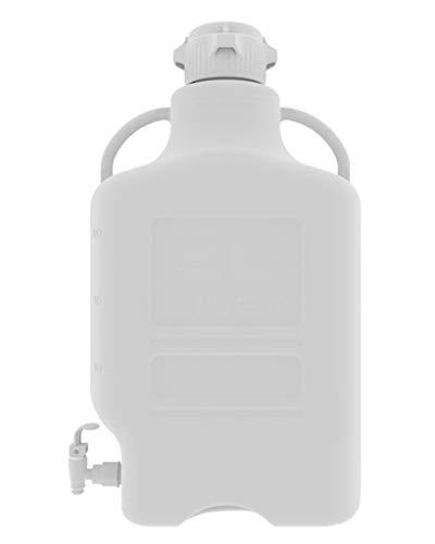 ezgrip 20L (5 Gal) HDPE ruimtebesparende glazen ballon met lekvrije spigot, 83 mm (83B) versacap en 26,5 l Max capaciteit