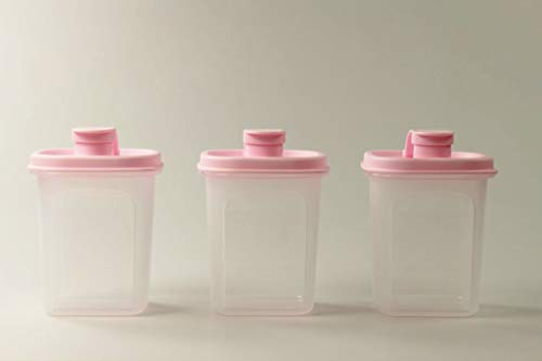 Tupperware Erfrischer 350 ml (3) rosa Eidgenosse Saft Kanne Mess & Go Circular