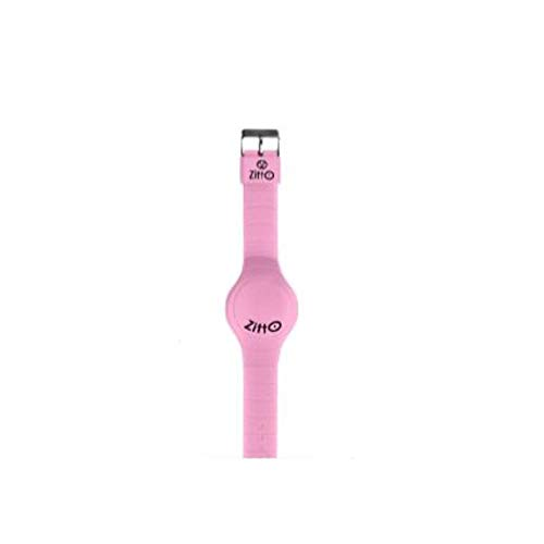 Orologio a led unisex piccolo ZITTO BASIC in silicone rosa PINKLADY-U-MINI