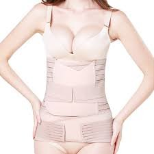 IMPORTIKAAH Postpartum 3-in-1 Girdles Wrap– Waist + Pelvis Pregnant Post Pregnancy Slimming Belt (Medium Waist 24-30 Inch)