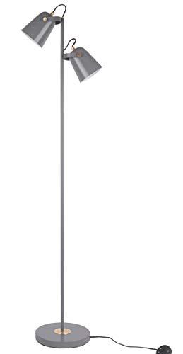 Present time - Lampadaire 2 spots métal gris mat STEADY