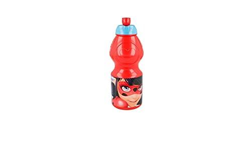 ALMACENESADAN 2211; Bottiglia di plastica Riutilizzabile Coccinella; 400 ml; miracoloso; Lady Bug; marinetta; Borraccia, Senza bpa