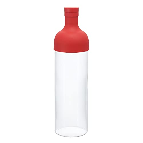 HARIO(ハリオ) フィルターイン ボトル 熱湯/食洗機対応 750ml レッド 日本製 FIB-75-R