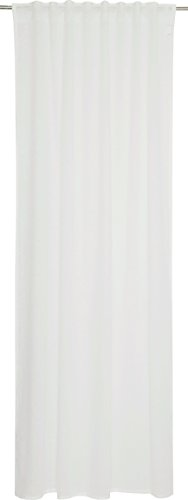Schöner Wohnen Schal mit verdeckten Schlaufen, 100 Prozent Polyester, Weiß, 250 x 130 cm