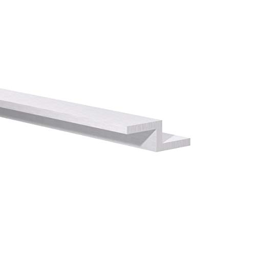 """Orange Aluminum - Aluminum Z Bar – Double Angle, Sharp Corner ZChannel Profile – Metal Zbar Rail Extrusion Hardware for Trims, Structural Mounting and More (1/2"""" H x 3/4"""" W x 1/8"""" Thick), 4ft Length"""