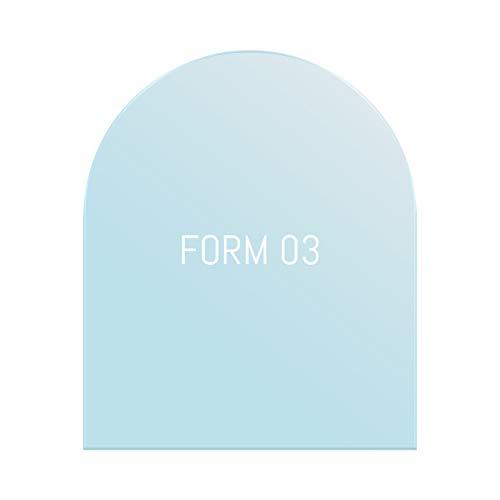 Glas Bodenplatte Funkenschutz Viereck Form mit Halbkreis 100x120cm 6mm Stärke mit Silikon Schmutzlippe ESG Einscheibensicherheitsglas für Kamin und Ofen Facettenschliff Klarglas